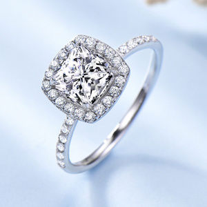 AAA CZ Diamond Engagement Ring Sterling Silver